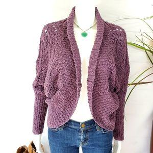 Anthropologie Moth crochet knit cardigan shrug